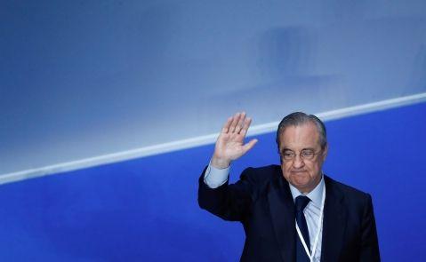 El presidente del Real Madrid, Florentino Pérez. EFE/Emilio Naranjo