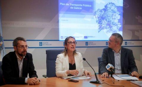 La conselleira de Infraestruturas, Ethel Vázquez, presentó el año pasado la nueva fase del Plan de Transporte Público de Galicia, acompañada del director xeral de Mobilidade, Ignacio Maestro