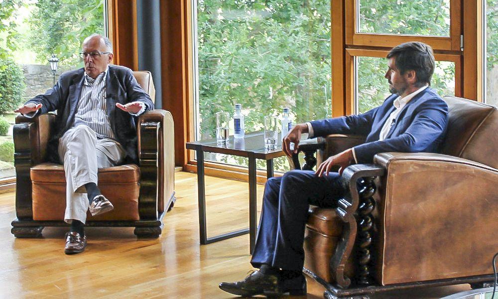 González Laxe y Emilio Bruquetas, en los Observatorios de ED Galicia