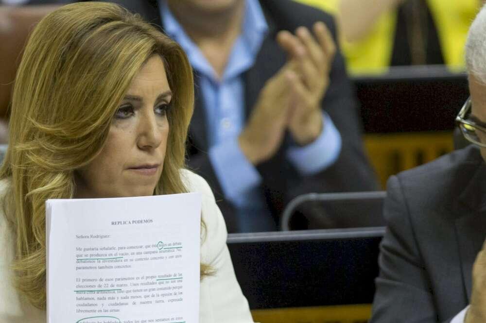 Susana Díaz no consigue la investidura en la primera votación