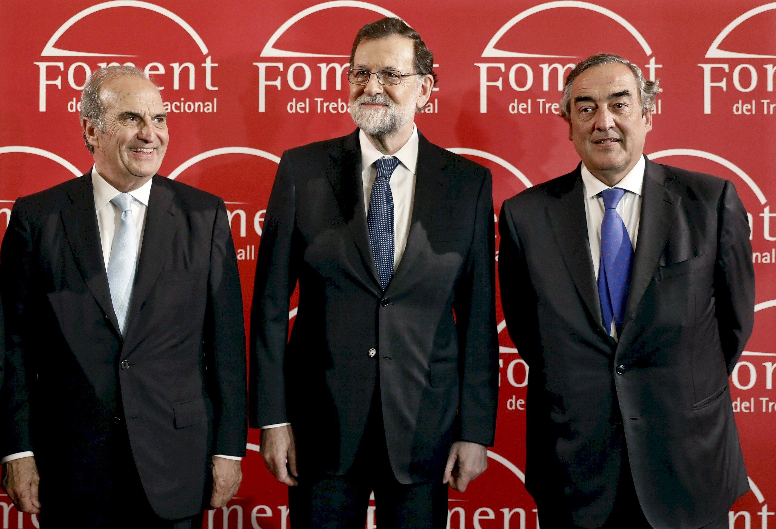 Rajoy se une con el empresariado catalán para salir airosos tras el 21-D