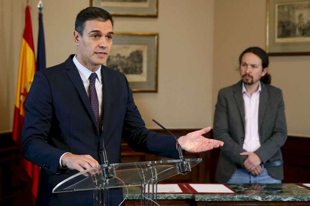 Sánchez e Iglesias pactan soluciones para las crisis de Alcoa y Endesa