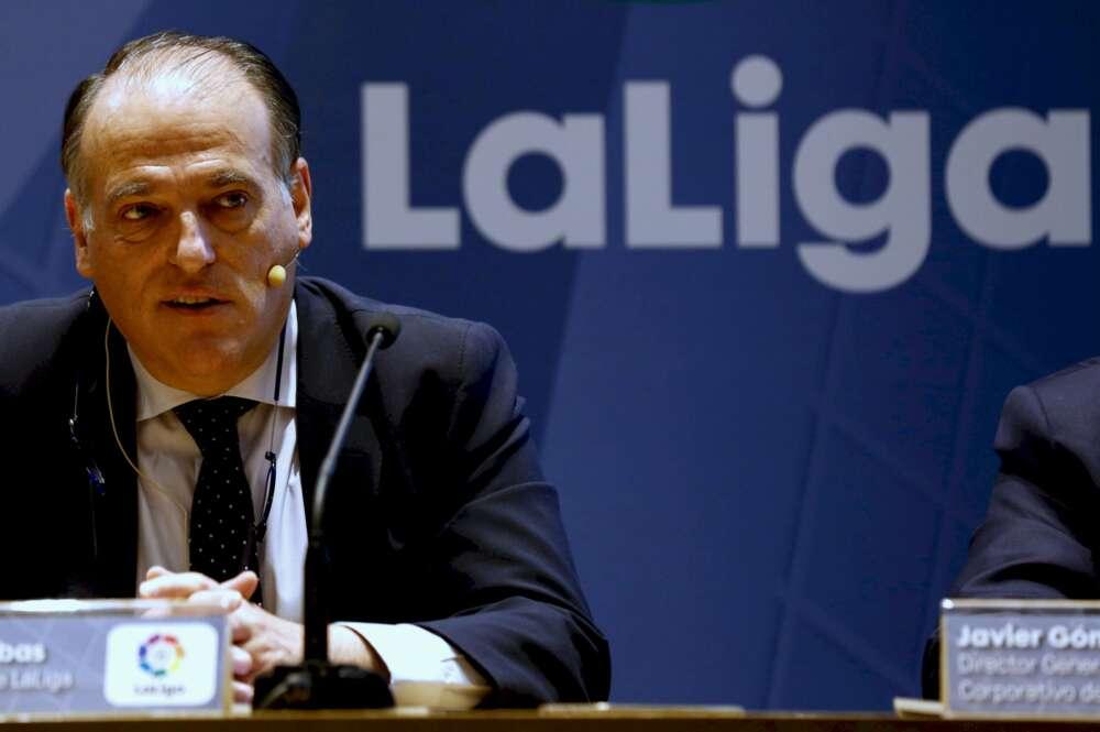 Javier Tebas descarta dimitir por el caso del Dépor-Fuenlabrada