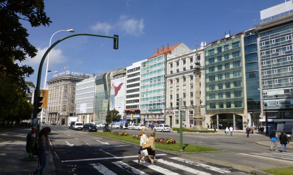 Los cantones coruñeses, espejo de la concentración bancaria en Galicia