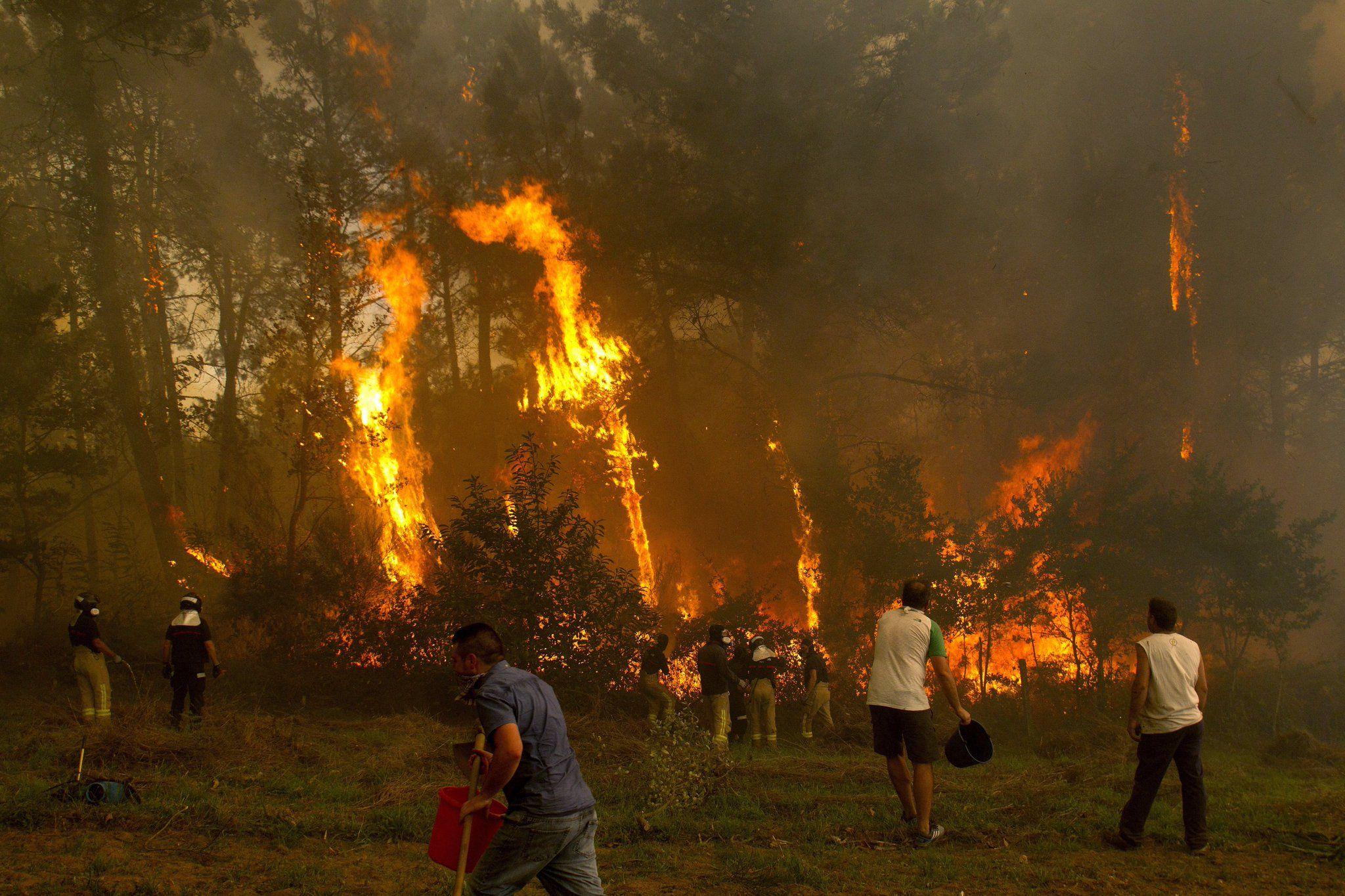 Pánico y héroes entre las llamas