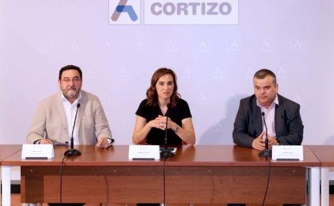 Raquel Cortizo, directora general de Aluminios Cortizo, en la presentación del plan estratégico del grupo en Padrón / Aluminos Cortizo