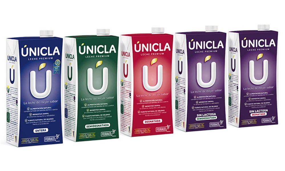 La variedad entera de leche Únicla, premiada por su sabor excepcional