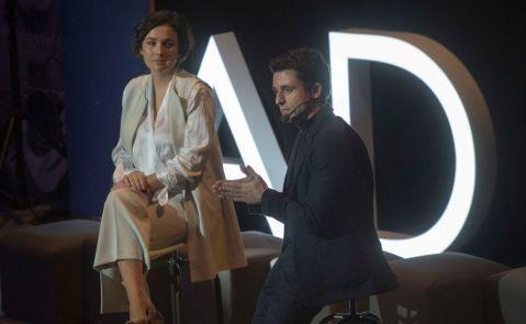Adriana Domínguez, CEO de Adolfo Domínguez, y Antonio Puente, nuevo director general de la firma