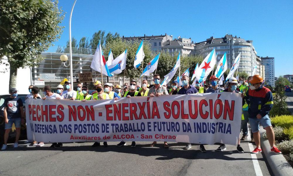 Alcoa, Alu Ibérica y Celsa suman fuerzas para protestar en A Coruña