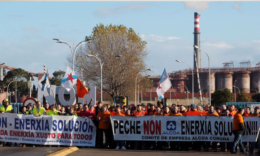 Alcoa prepara el cierre de una de sus dos plantas de Lugo