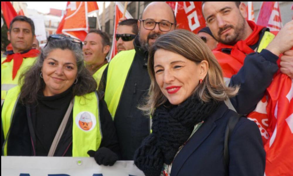 La jueza desimputa a Yolanda Díaz por las protestas de Alcoa