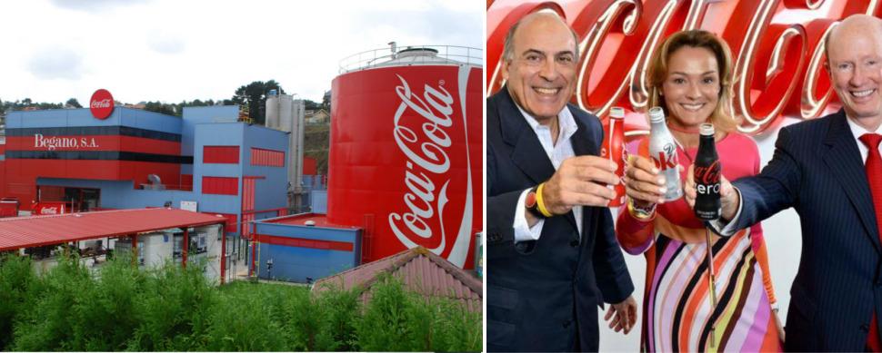 Begano se diluye en Coca-Cola: gana la mitad que el resto de embotelladoras