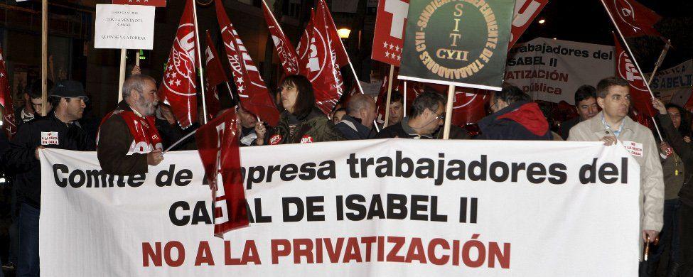 Madrid ya puede privatizar el agua, pero tras el 24M será difícil que lo haga