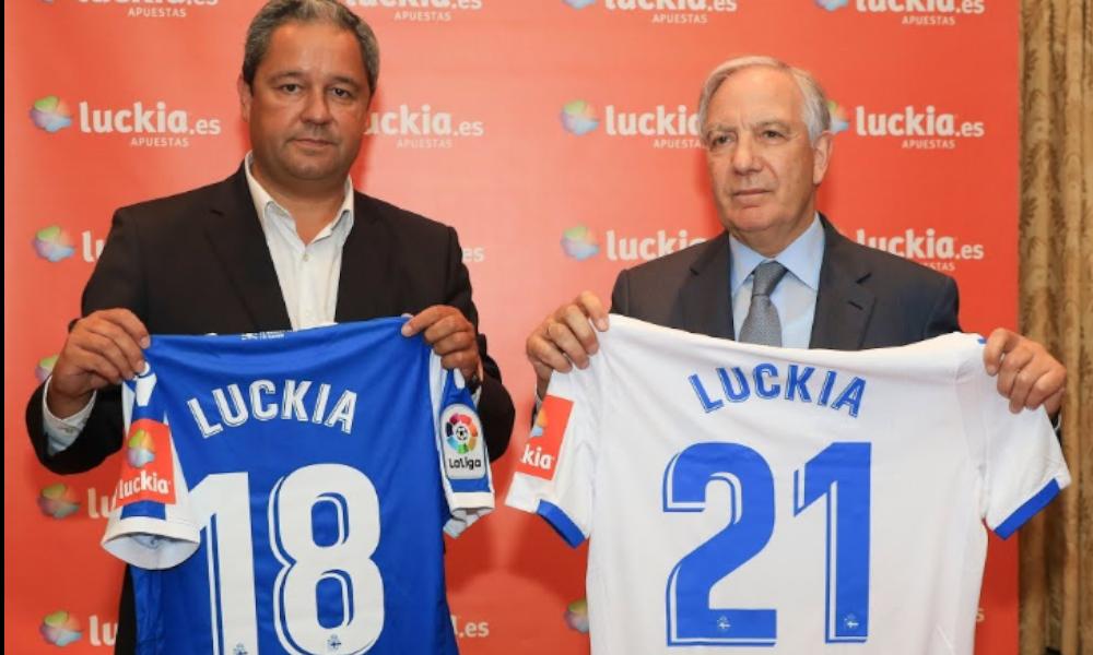 La Xunta prohibirá la publicidad de Luckia en las camisetas del Dépor