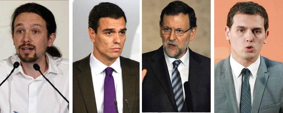 Rajoy y Sánchez remontan mientras que Iglesias y Rivera pierden partidarios