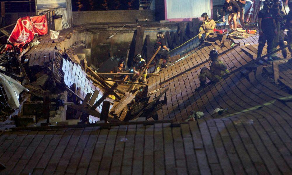 Más de 130 heridos al hundirse el suelo en el paseo marítimo de Vigo