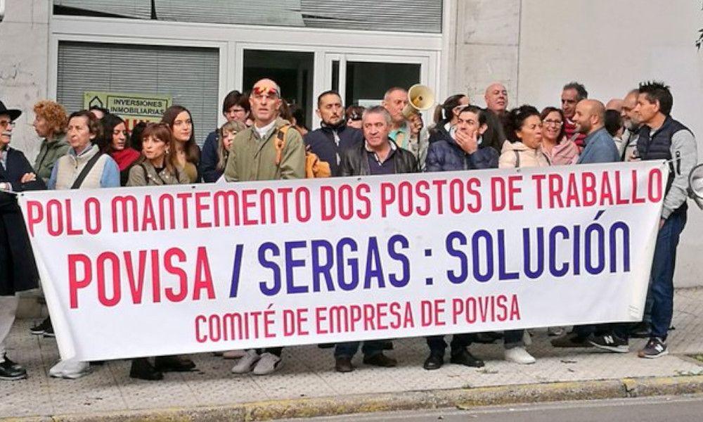 Trabajadores de Povisa llevan su protesta al Parlamento
