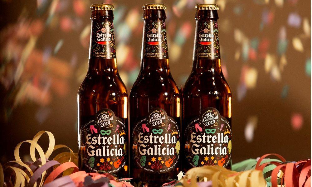 El Entroido se cuela en las nuevas botellas de Estrella Galicia