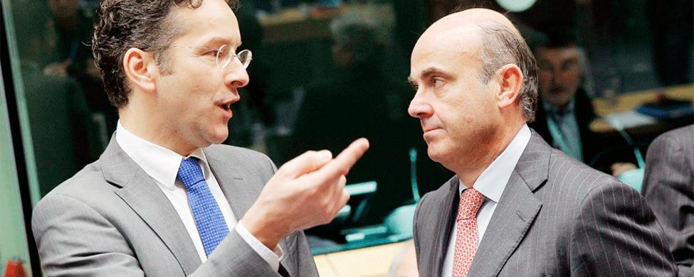 El Eurogrupo da un portazo unánime a De Guindos
