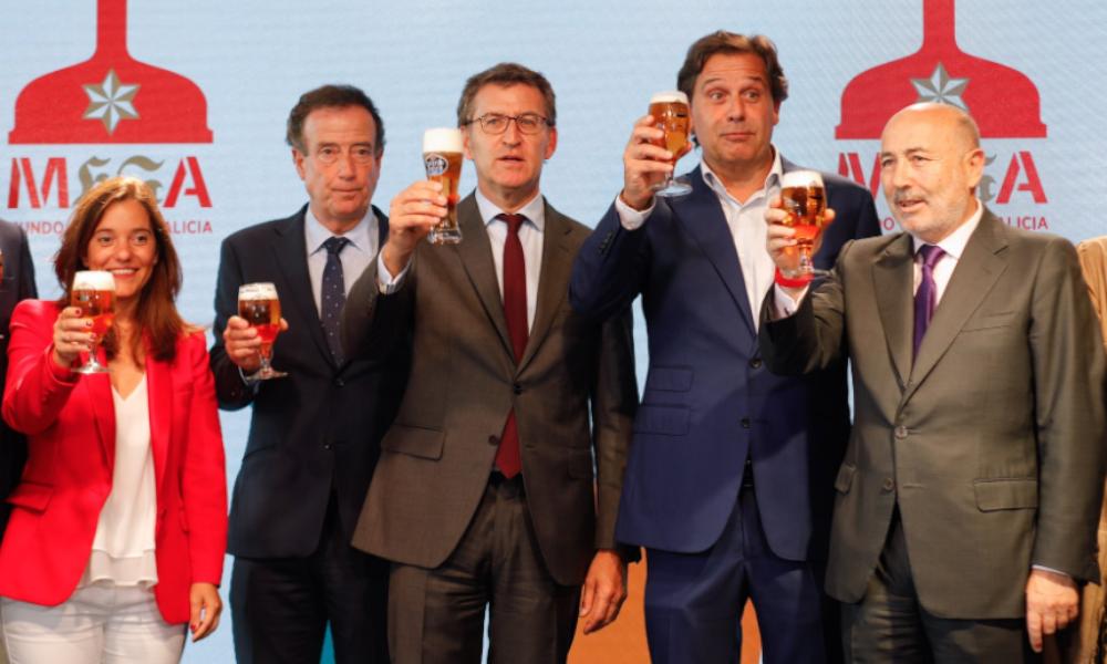 Alfombra roja de la Xunta a la nueva fábrica de Estrella Galicia