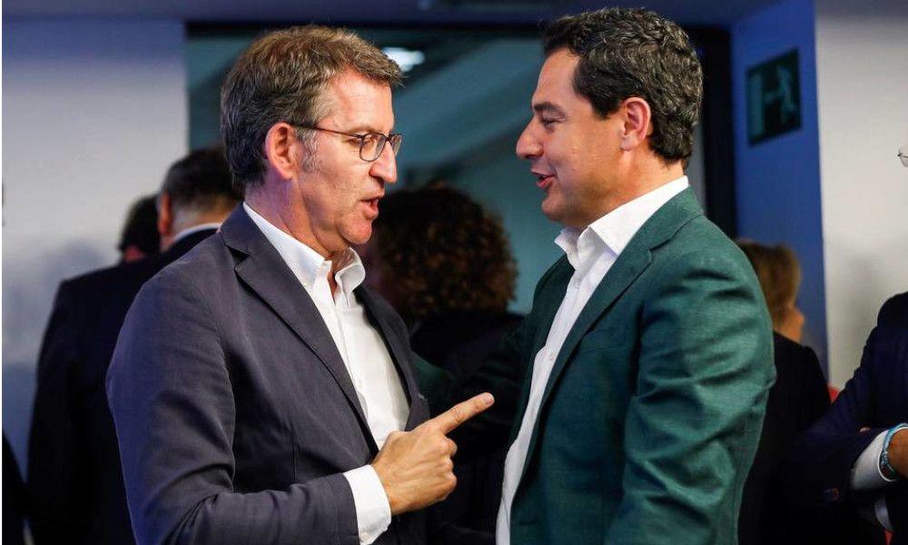 Feijóo y Moreno Bonilla hacen 'lobby' en el PP