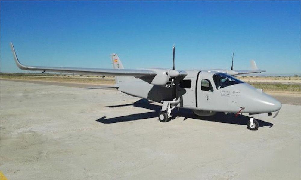Los drones de Indra en Rozas salen del hangar