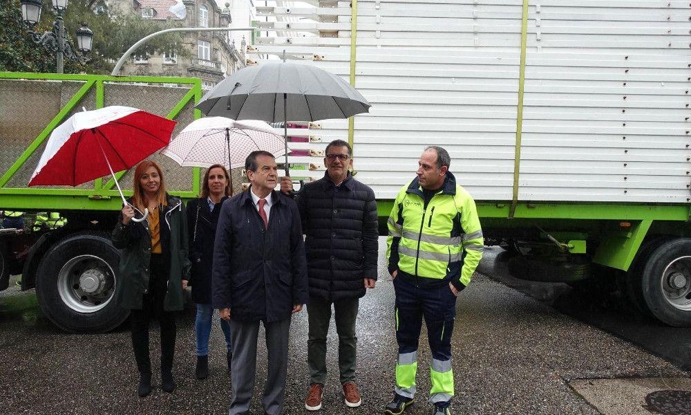 La noria de 62 metros de Caballero llega a la Navidad de Vigo
