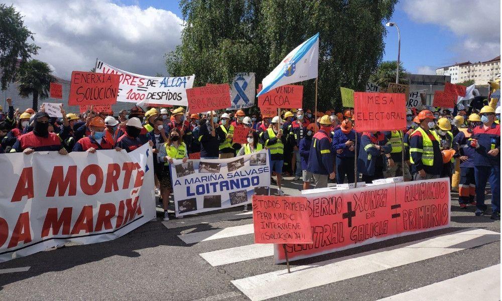 Alcoa: parálisis total en San Cibrao