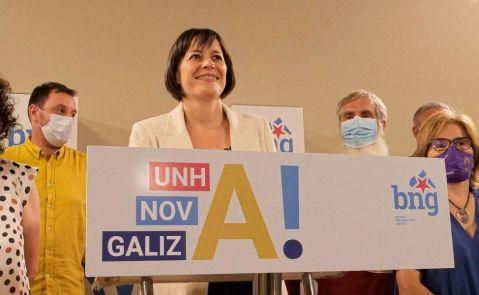 Ana Pontón, portavoz nacional del BNG, hace su valoración de los resultados / E.P.