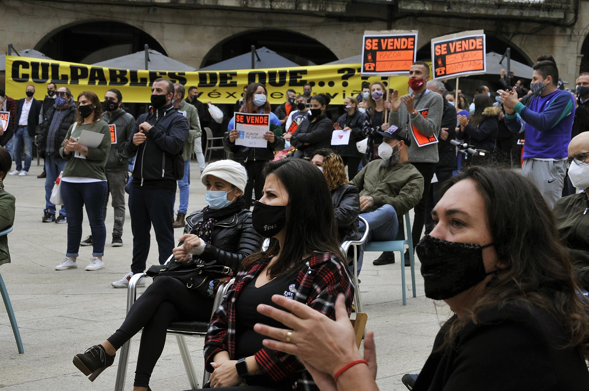 """Vídeo: La hostelería, contra las restricciones """"atroces"""" de Ourense"""