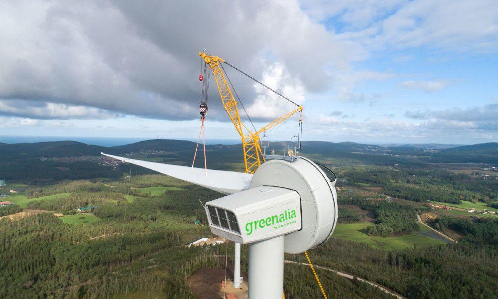 Otro hito de Greenalia: empieza a producir energía eólica