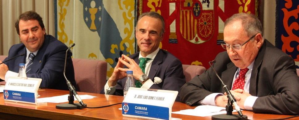 El presidente de las Cámaras de España receta AVE e industria para Galicia