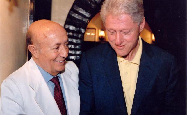 Lucio Blázquez junto a Bill Clinton.