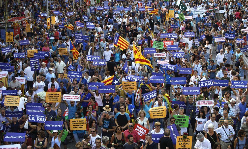 Barcelona clama contra el terrorismo