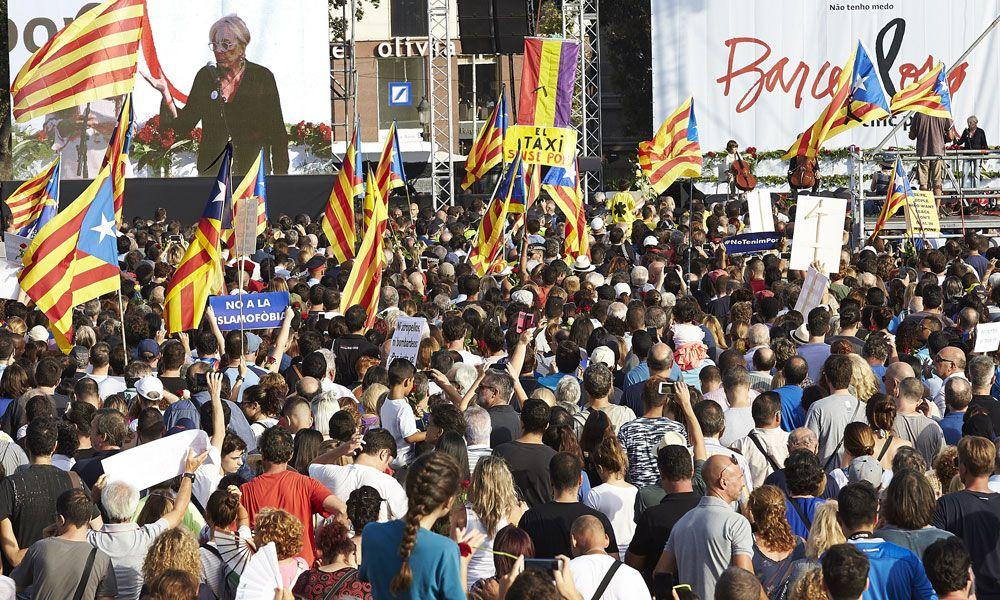 El independentismo retrata su sectarismo en la manifestación de Barcelona