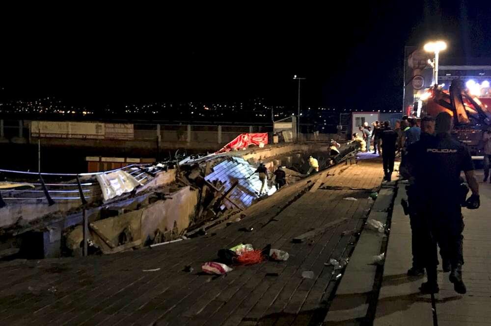 El Puerto achaca a un fallo estructural el accidente de O Marisquiño