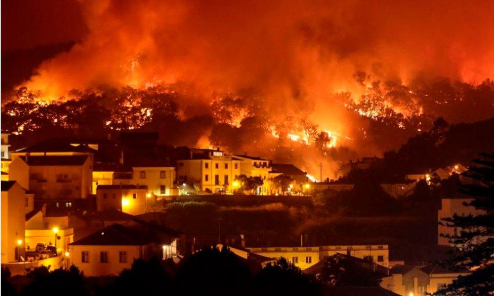 El fuego avanza sin control en Portugal