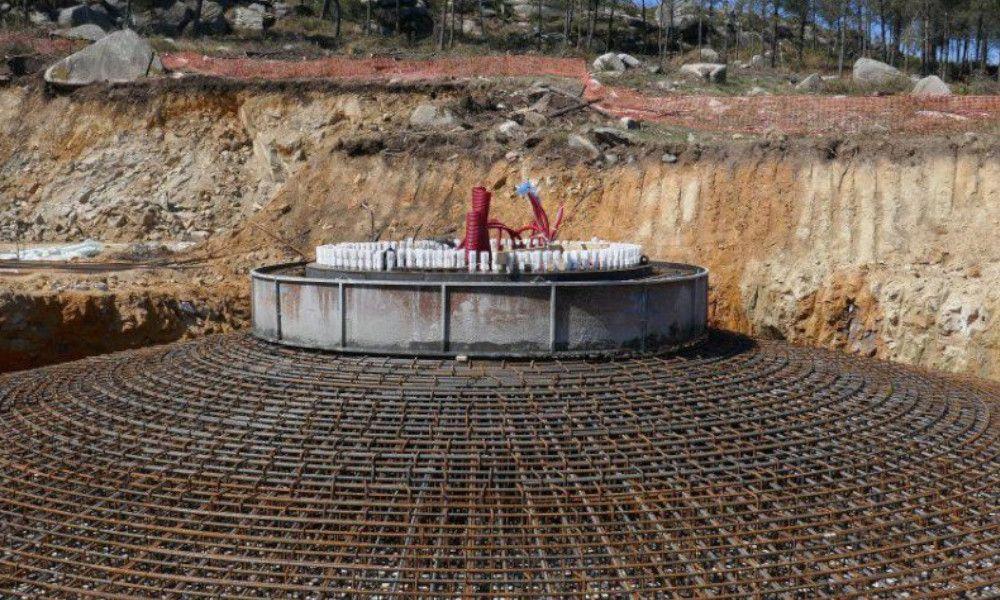 En Marea pide paralizar las obras del parque eólico de Mouriños