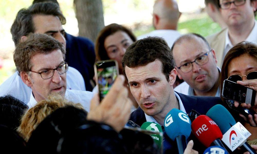 El pacto de PSOE y Podemos reabre el cisma entre Feijóo y Casado