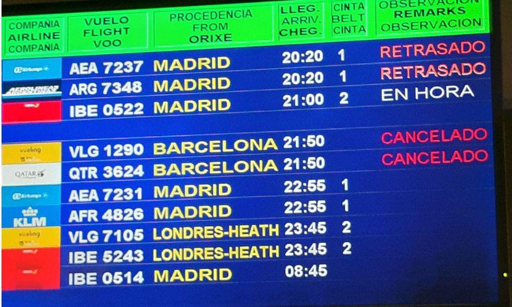 Las protestas en Cataluña cancelan vuelos en Lavacolla y Alvedro