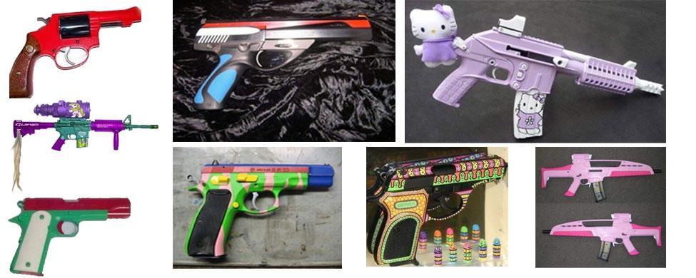 No son juguetes, son armas de verdad