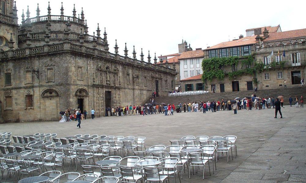 Los hosteleros de Santiago se plantan