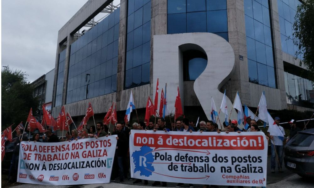 Las subcontratas de R retoman la huelga contra la deslocalización