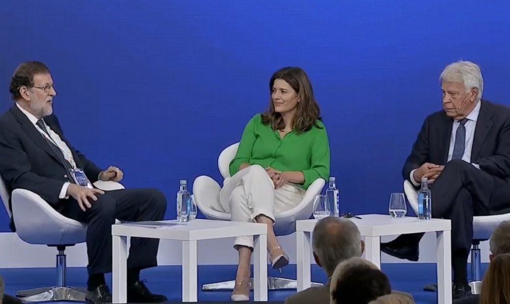"""Felipe González: """"¿Nos podemos poner de acuerdo? Rajoy y yo, sí"""""""