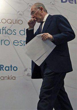 Rato dice adiós en Bankia