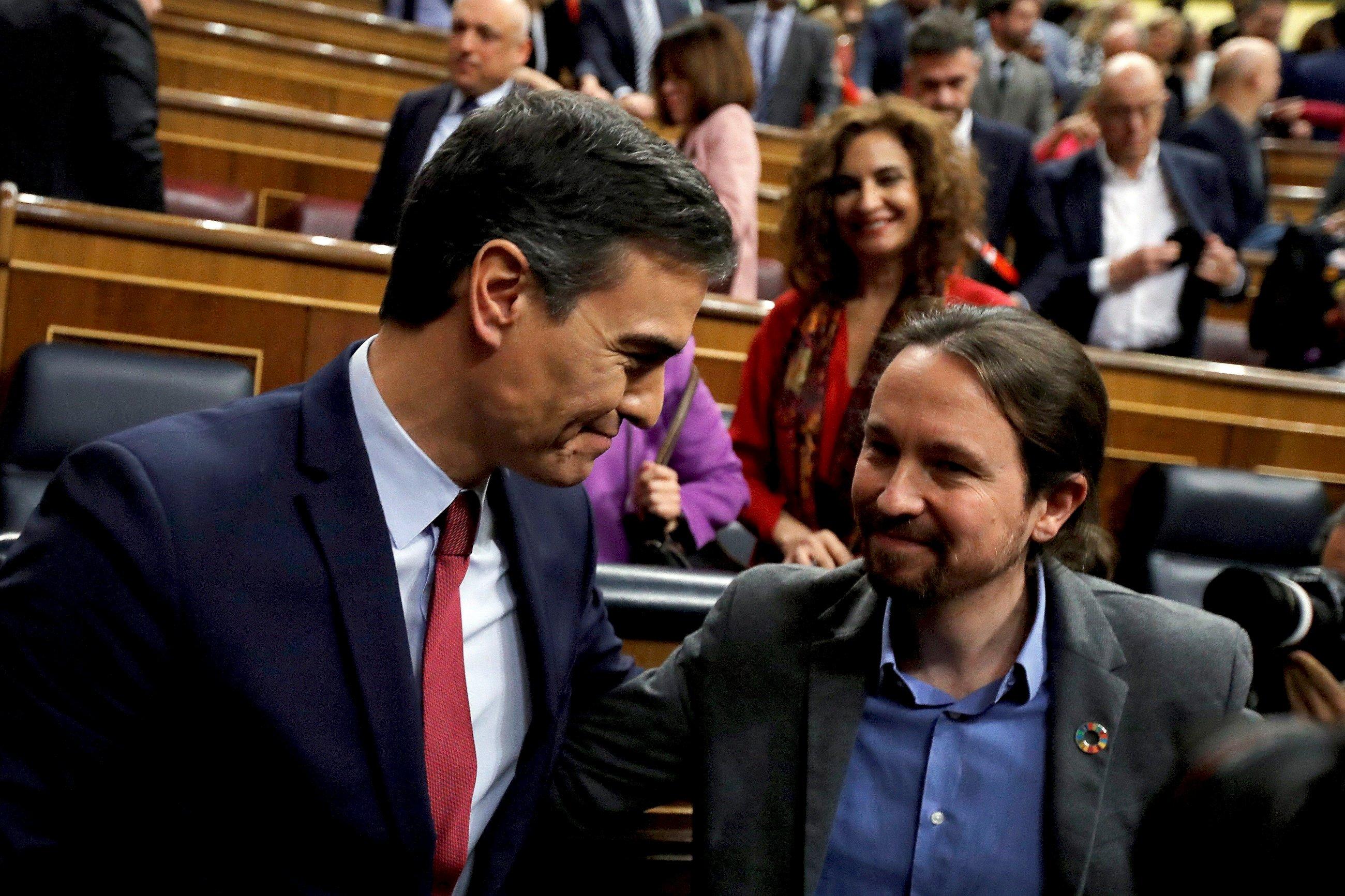 Del Rey a Bankia: 9 meses de choques entre Sánchez e Iglesias
