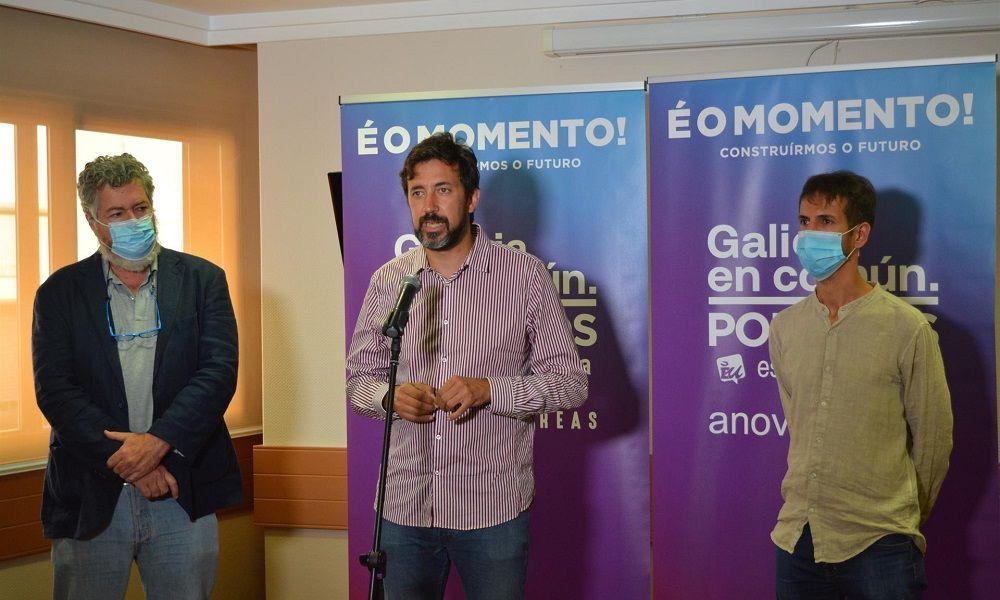 Podemos insiste en pedir el voto de forma conjunta con PSOE y BNG