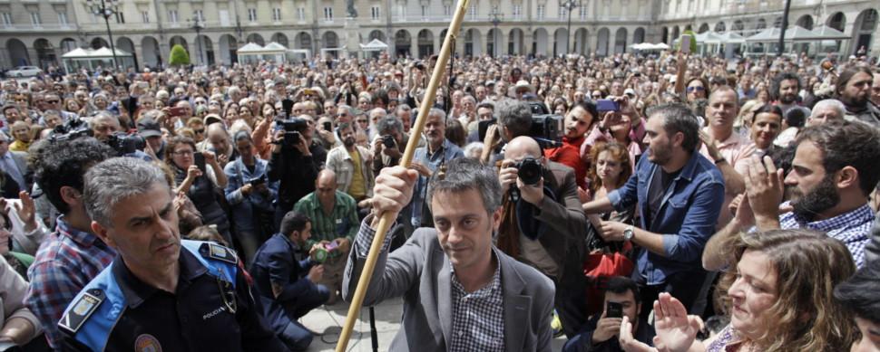 Cambio histórico: las mareas toman el mando en Santiago, Ferrol y A Coruña