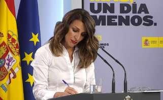 La ministra de Trabajo, Yolanda Díaz / EFE