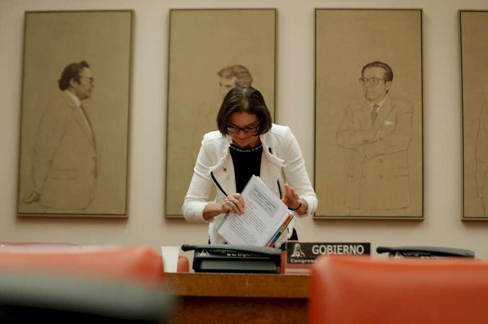 La ministra de Industria, Comercio y Turismo, Reyes Maroto, en una imagen de archivo. EFE/Emilio Naranjo/Archivo